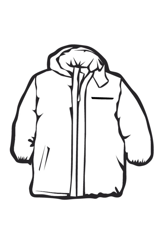 Free black coat cliparts. Clipart winter outerwear