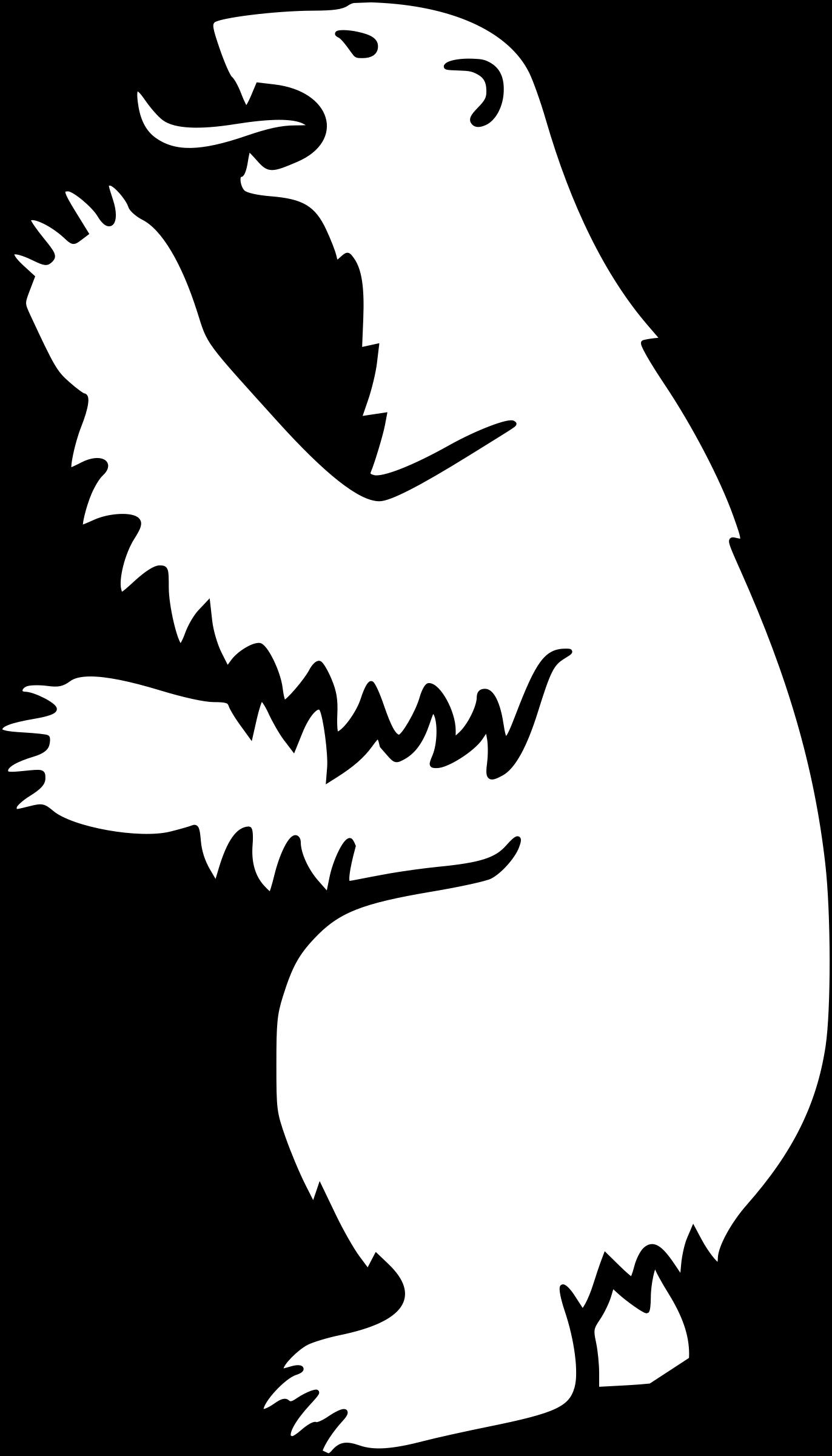 Coat of arms silhouette. Families clipart polar bear