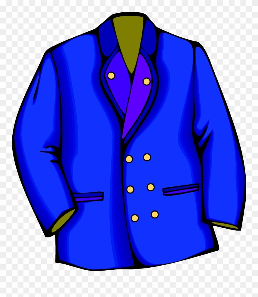 Blazer jacket suit clip. Coat clipart blue coat