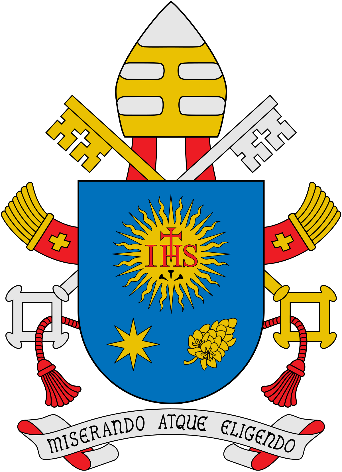 Coat of arms pope. Keys clipart crossed key