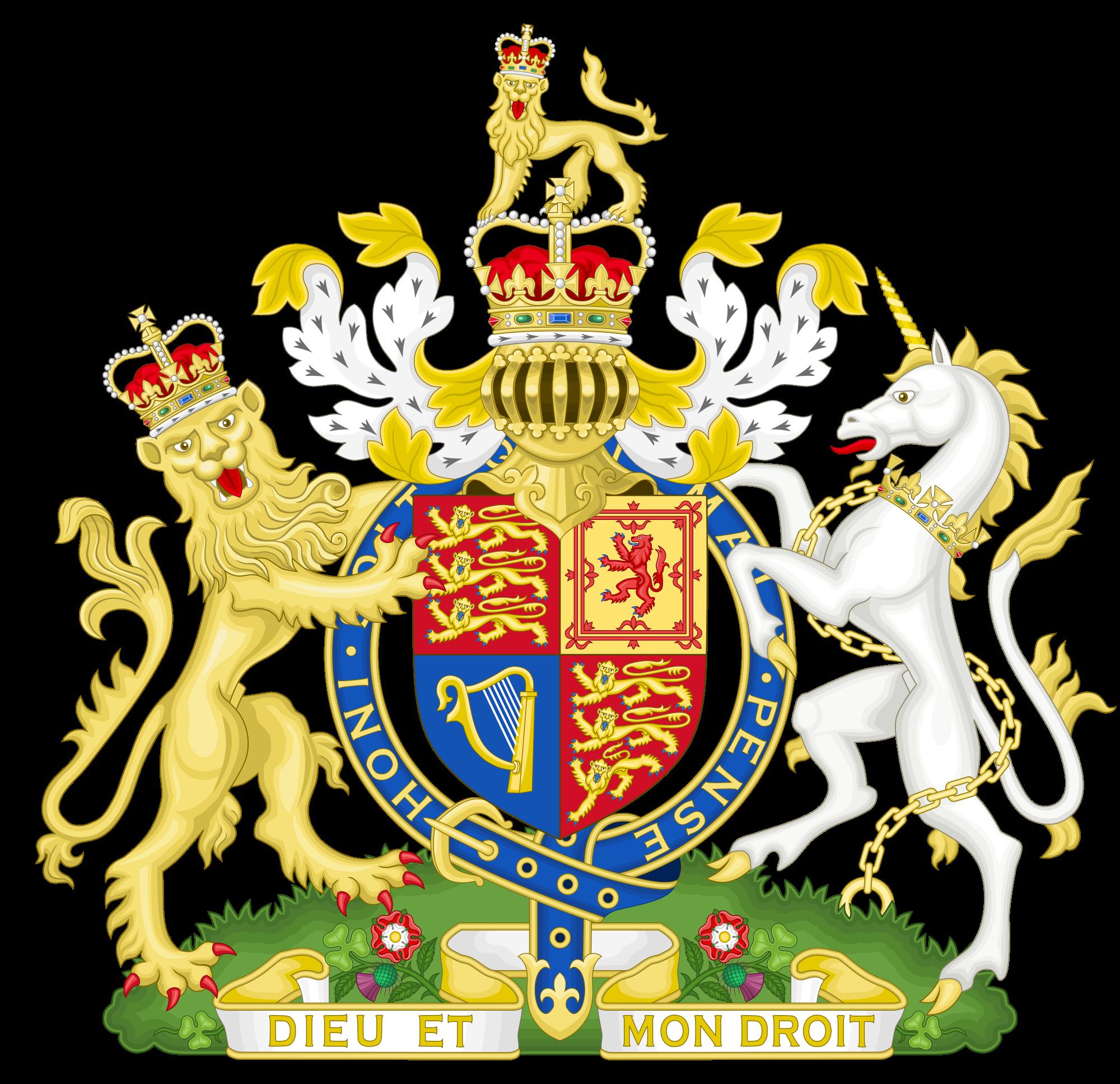 Shell clipart heraldic scallop. Dieu et mon droit