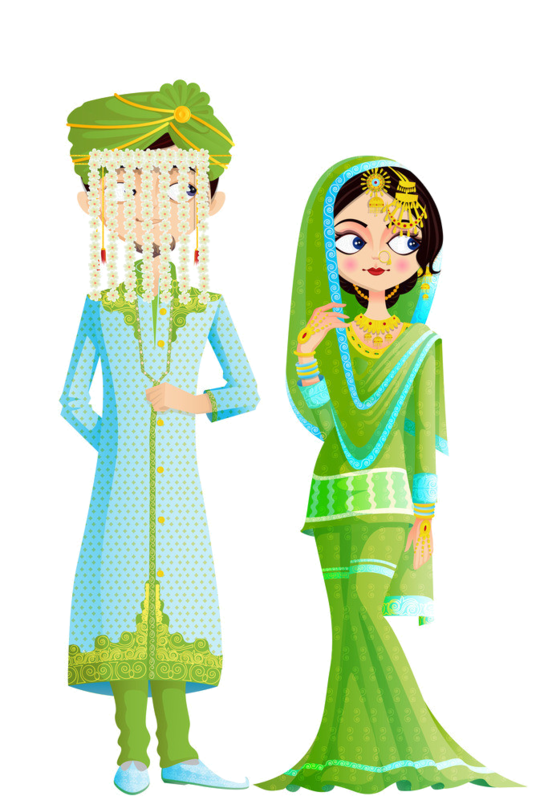 Costume clipart tamil. Personnages illustration individu personne