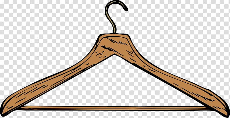 Brown clothes hanger illustration. Clothing clipart coat closet