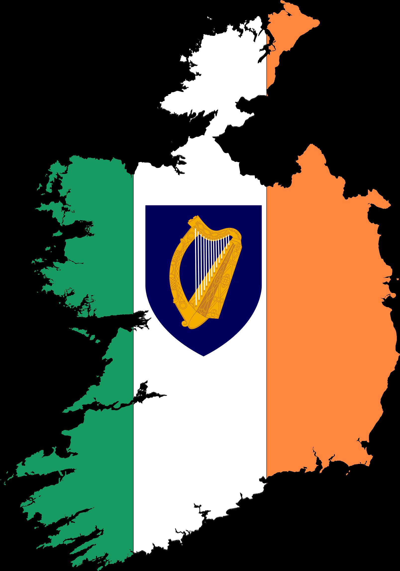 Republic of ireland map. Coat clipart coat outline