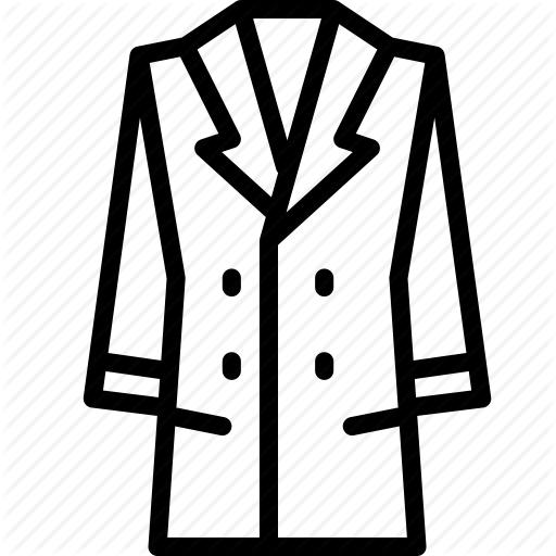 Coat clipart coat outline. Images gallery for free