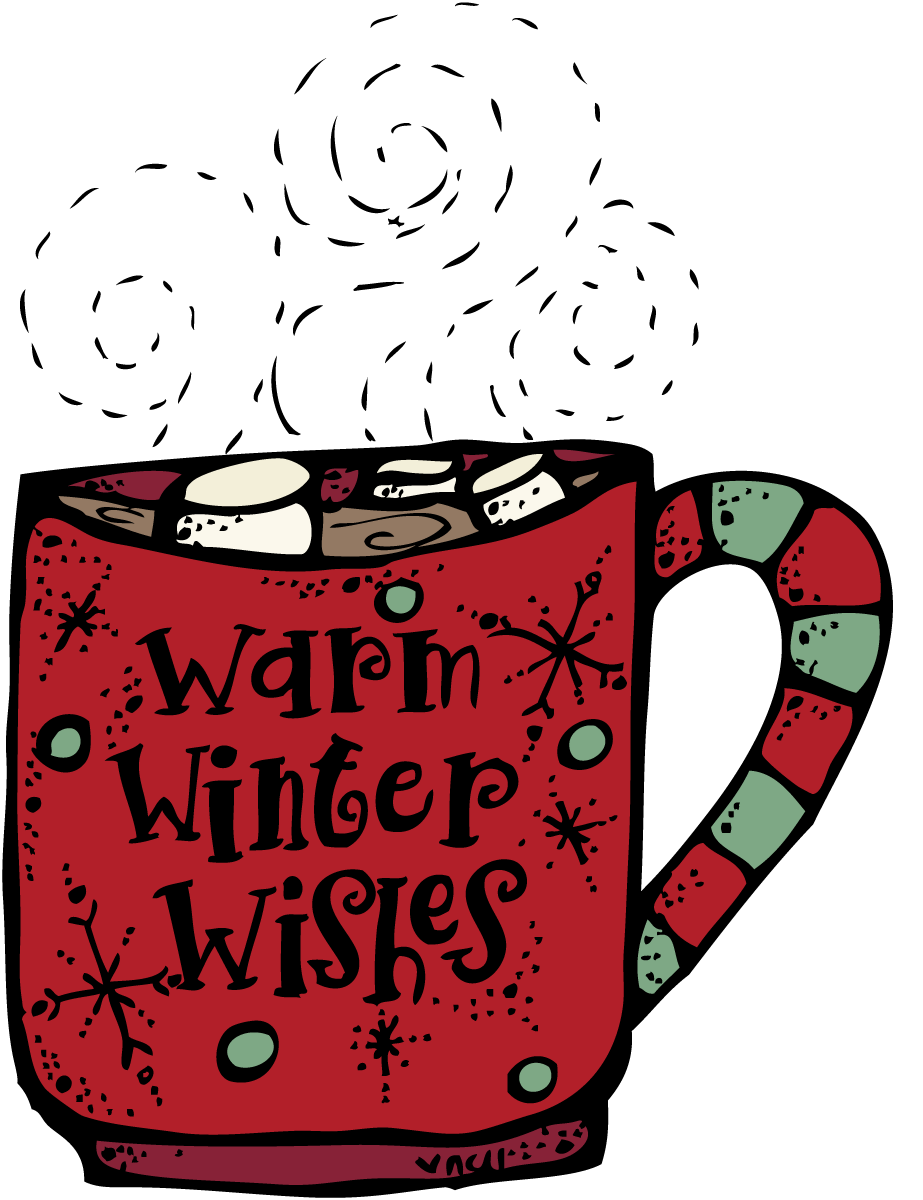 Melonheadz warm wishes. Winter clipart coffee