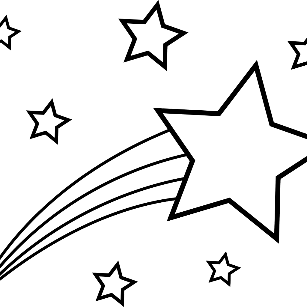 Sketch drawing free download. Clipart moon shooting star