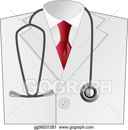 Doctor clipart coat. Vector art medical white