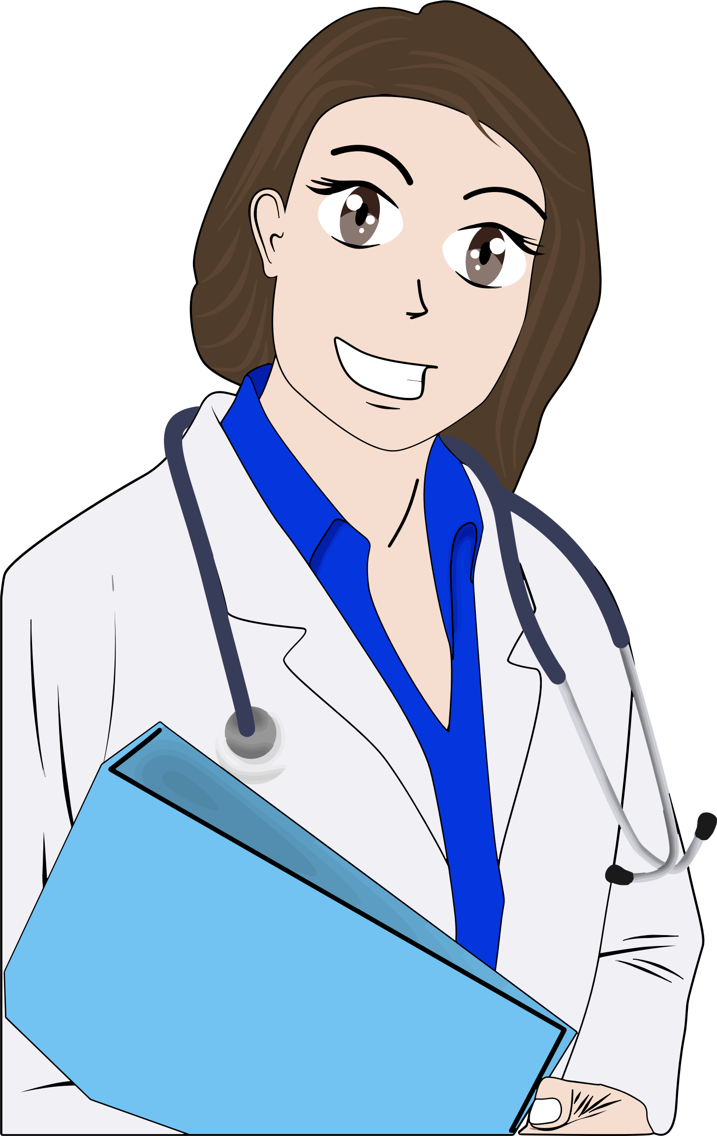 Cartoon female big image. Nursing clipart woman doctor