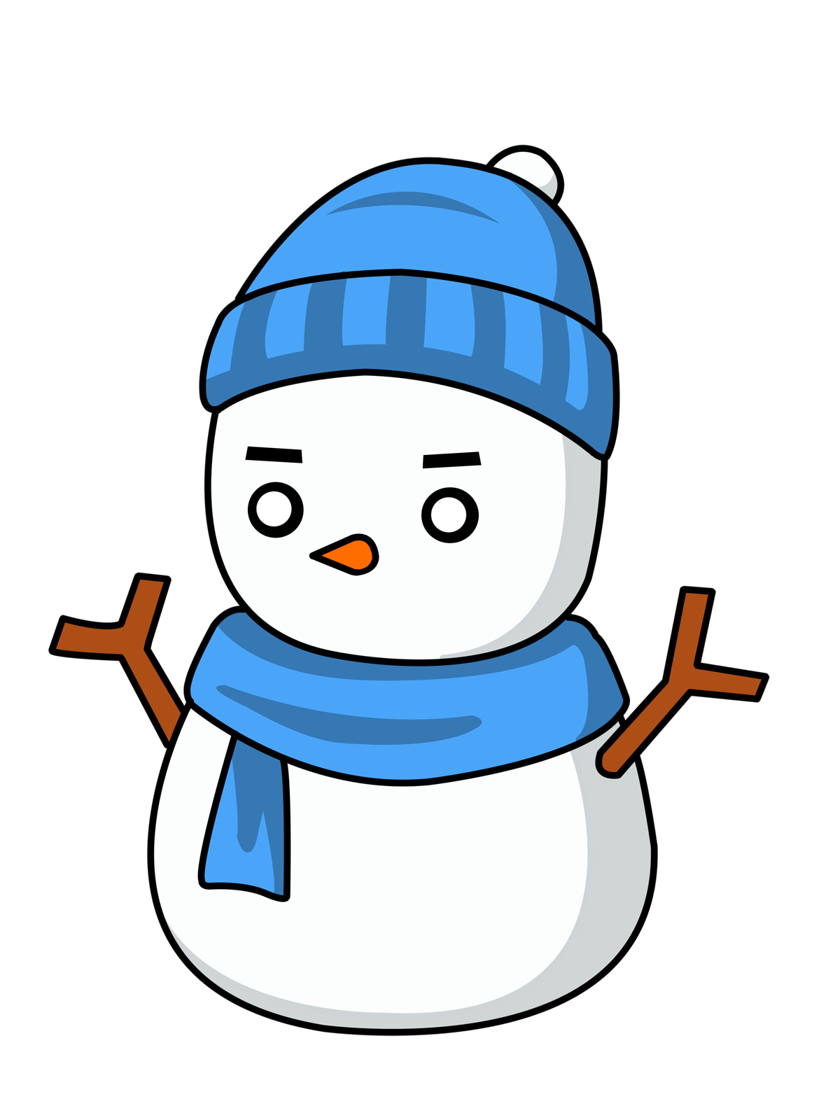 Olaf clipart outline.  collection of eskimo