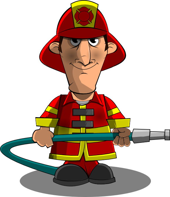 Funny cartoon panda free. Water clipart firefighter