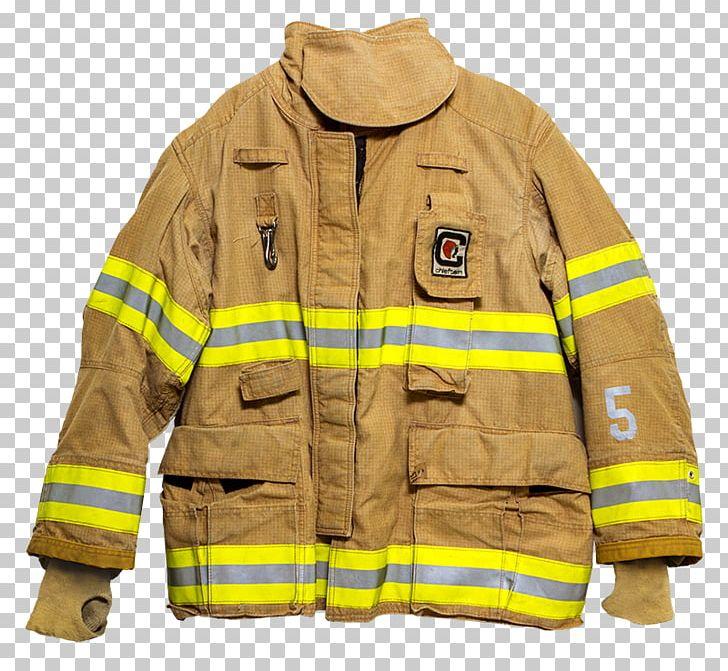 T shirt bunker gear. Firefighter clipart jacket