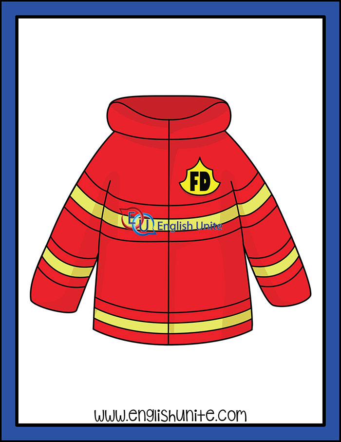 Firefighter clipart coat. Firefighters jacket