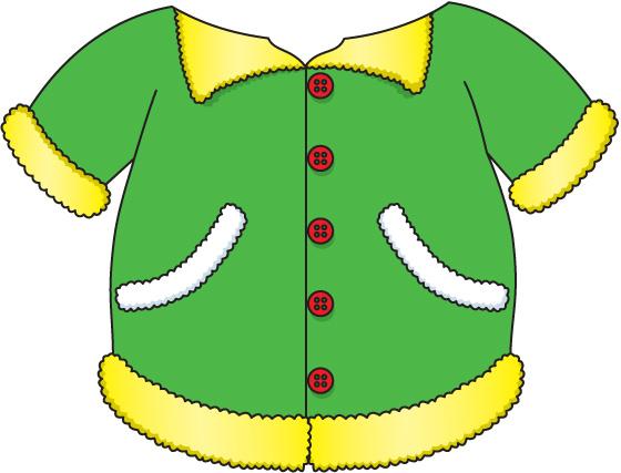 Clipart winter outerwear. Kids jacket clip art