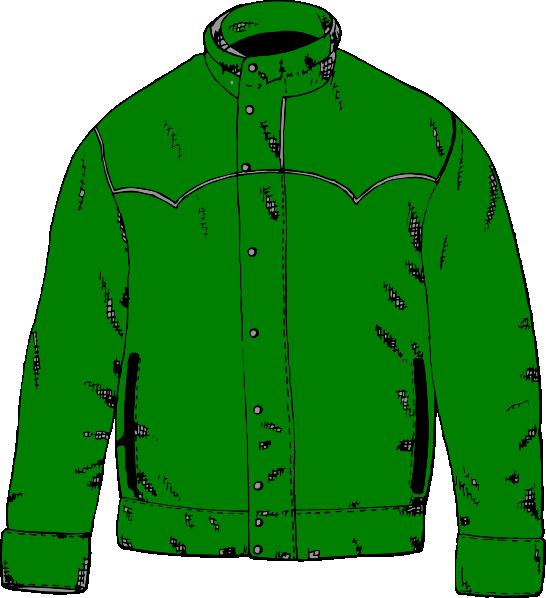 Green jacket clip art. Hoodie clipart garment