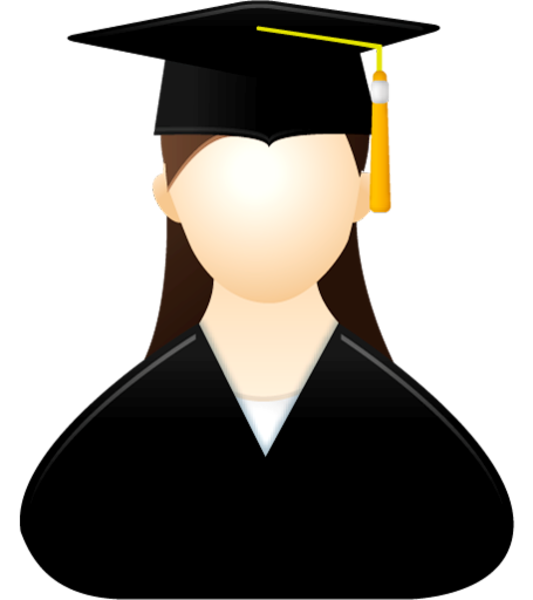 collection of girl. Graduation clipart woman