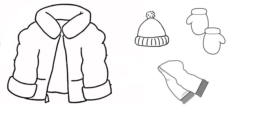 Mittens clipart coat. And hat clip art