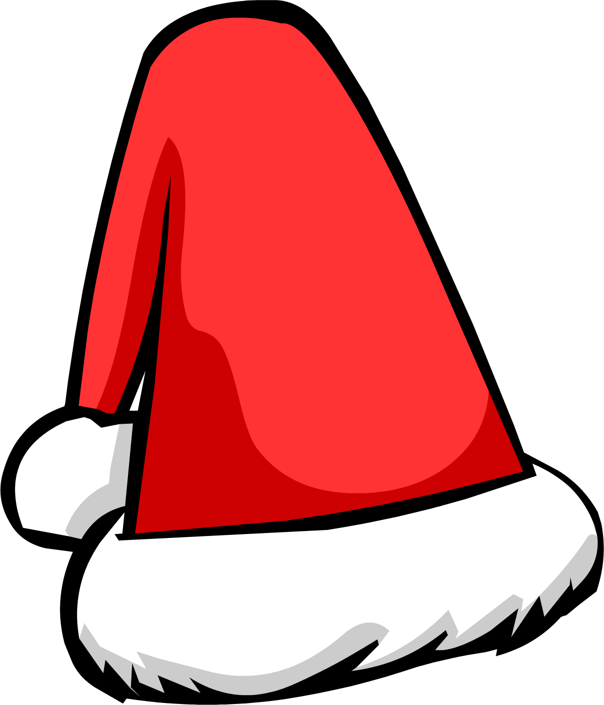 Santa hat vector png. Clipart outline pencil and