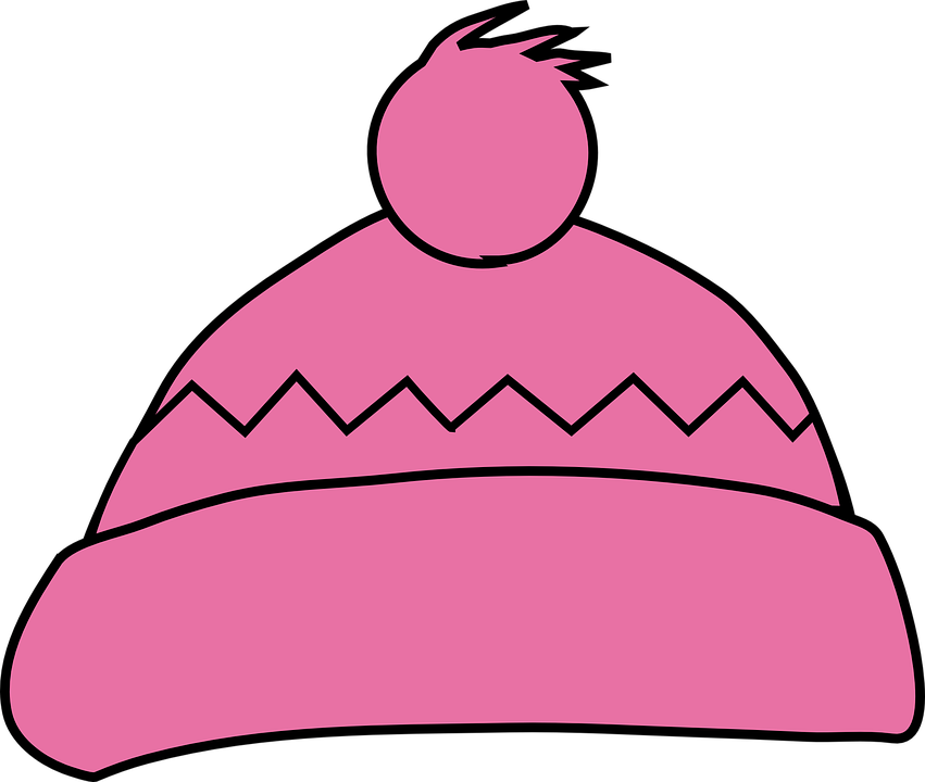 Winter hat group clothing. Mittens clipart beanie