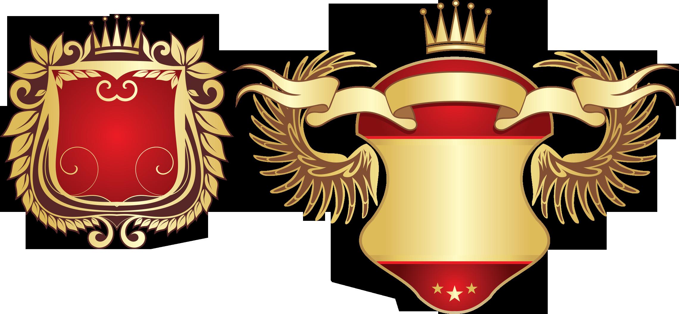 Coat of arms ornament. Clipart shield emblem