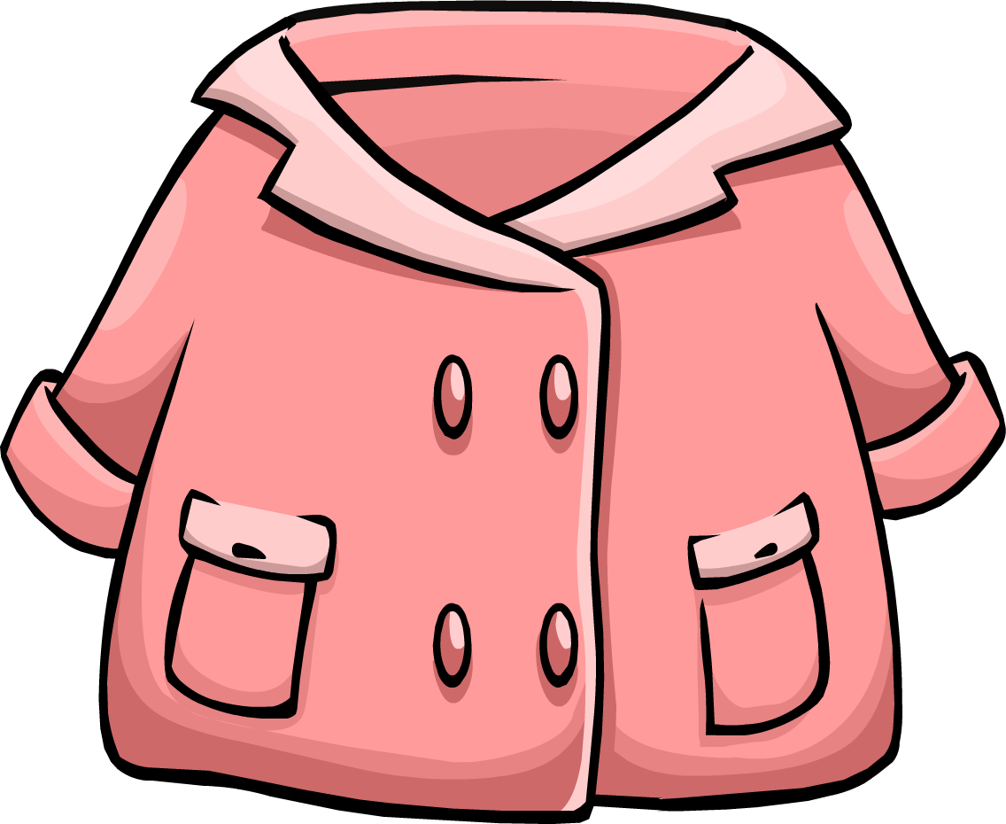 Clipart doctor jacket. Pink duffle coat club