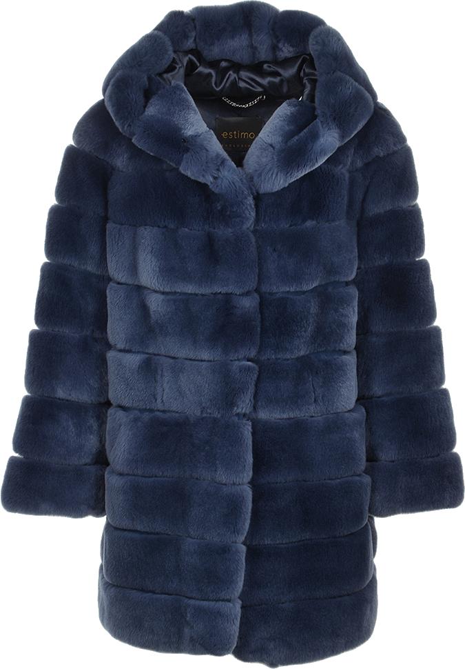 Rex rabbit fur blue. Clipart coat hooded jacket