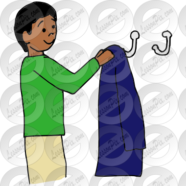 Hang up picture for. Clipart coat hung
