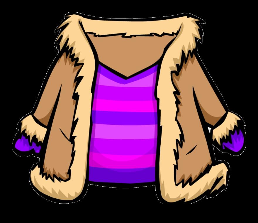 Clipart coat hung. Jacket fur purple club