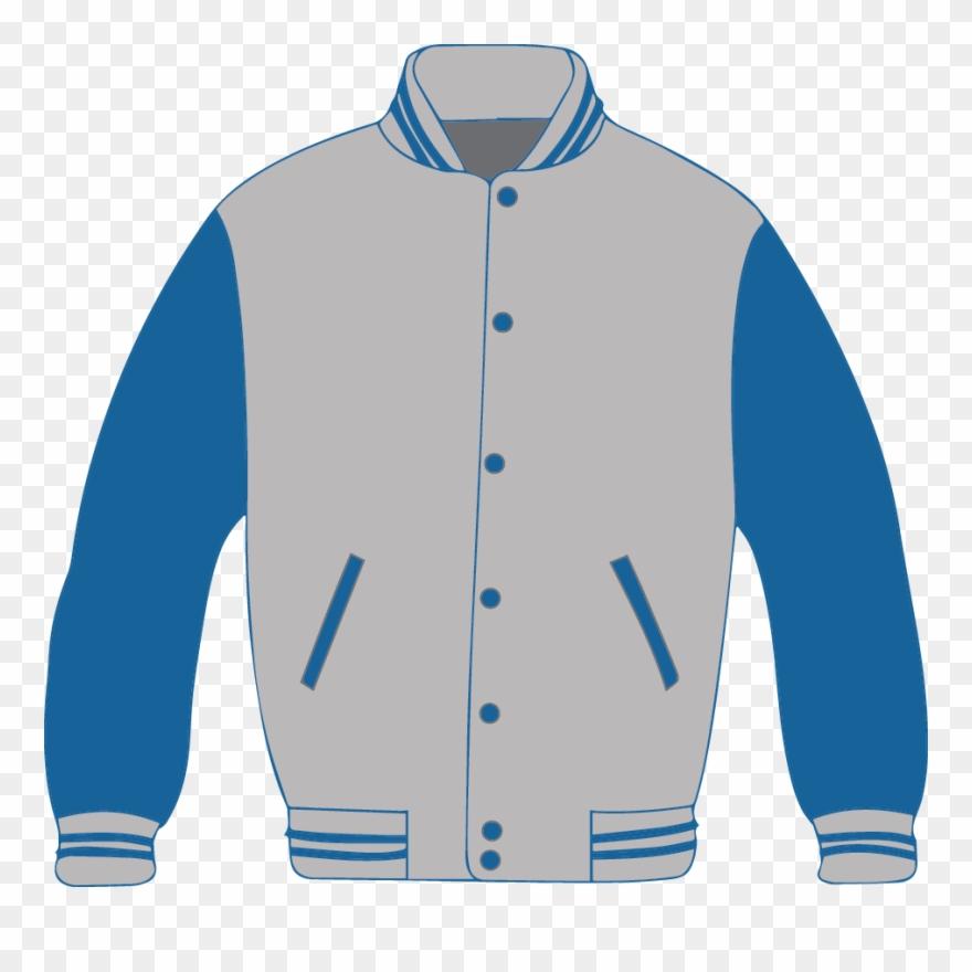 Clipart coat jersey. Jacket blue clip art