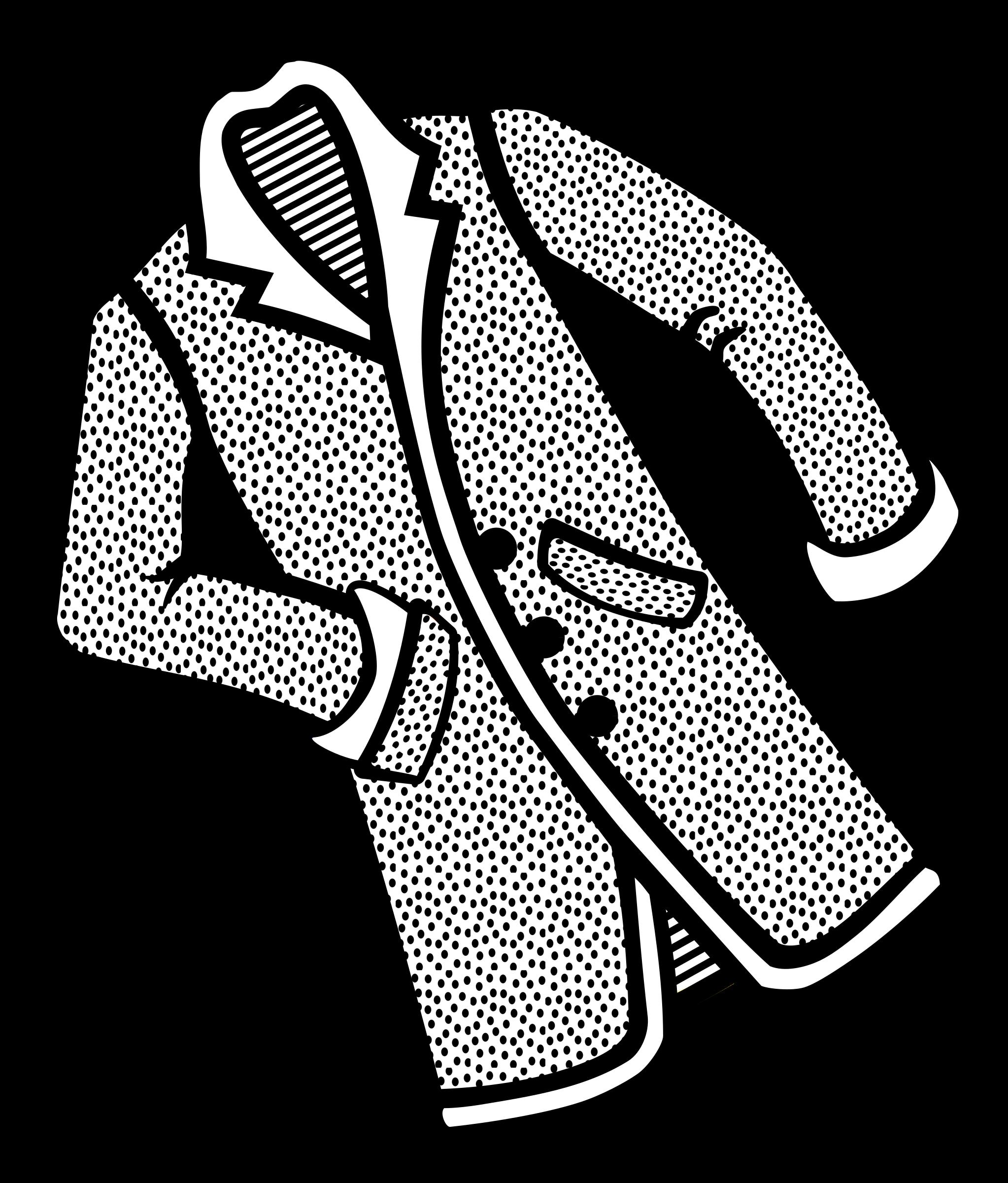 Coat clipart coat outline. Lab coats jacket raincoat