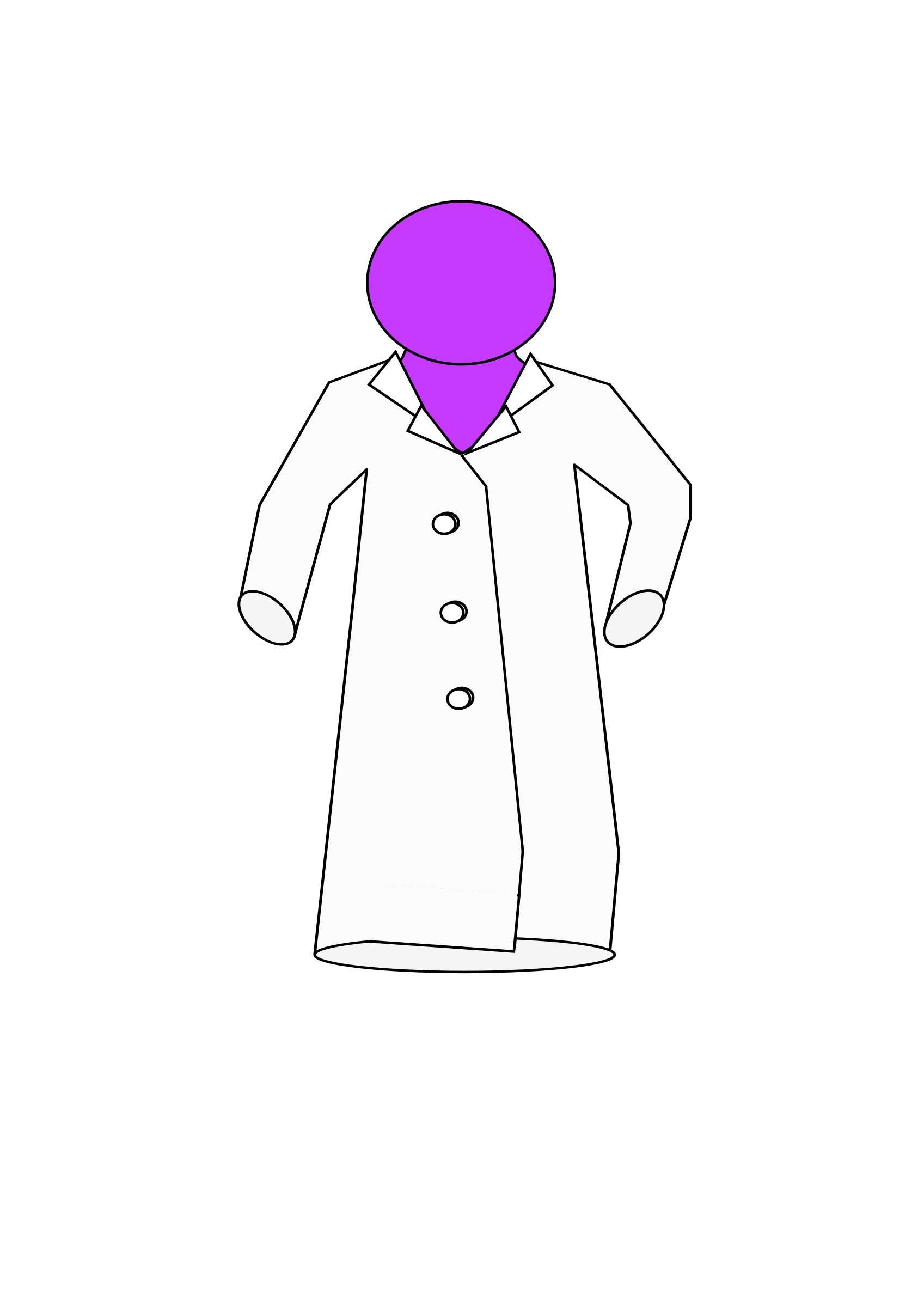 On purple figure big. Clipart coat lab coat