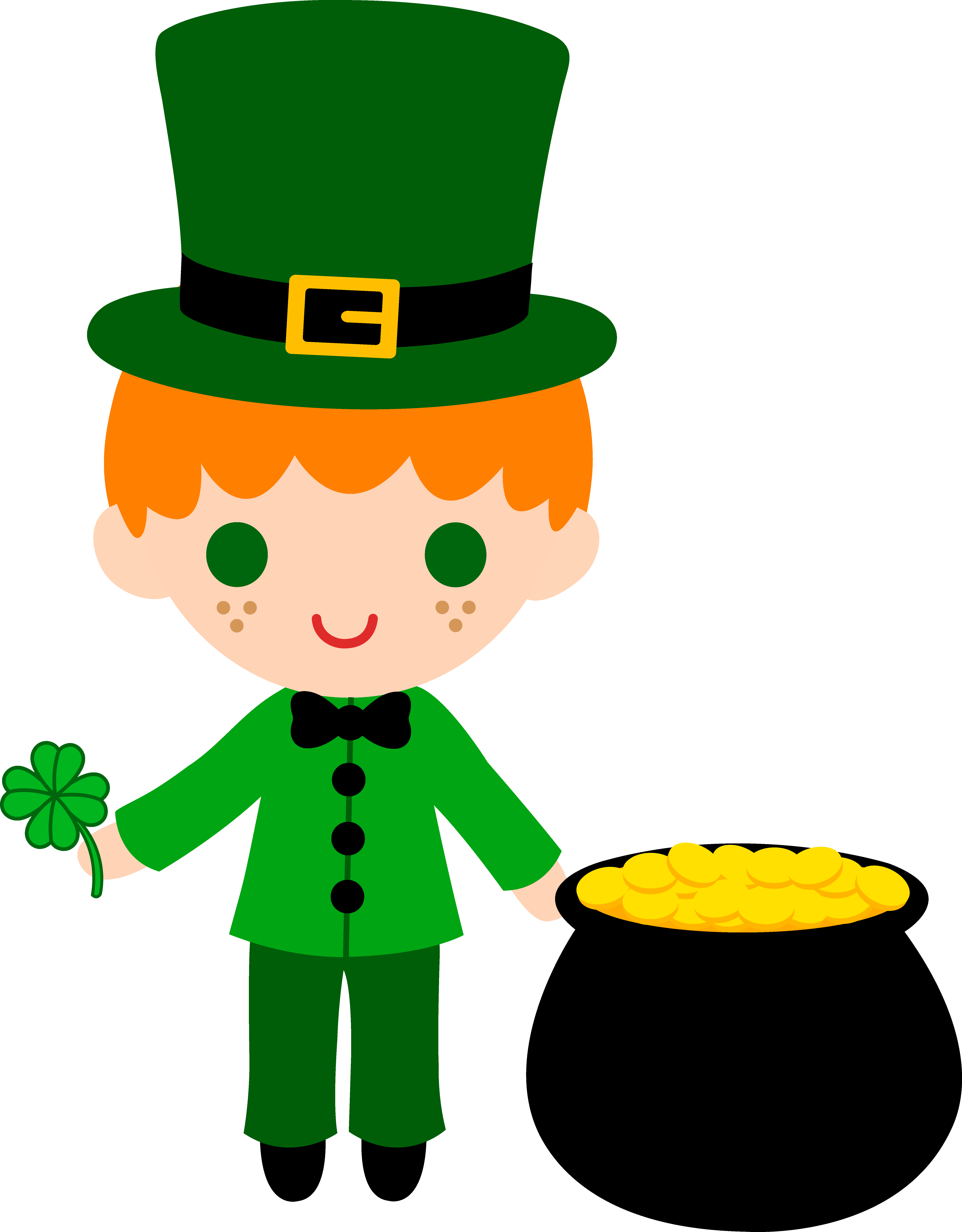 collection of leprechaun. Photo clipart animated