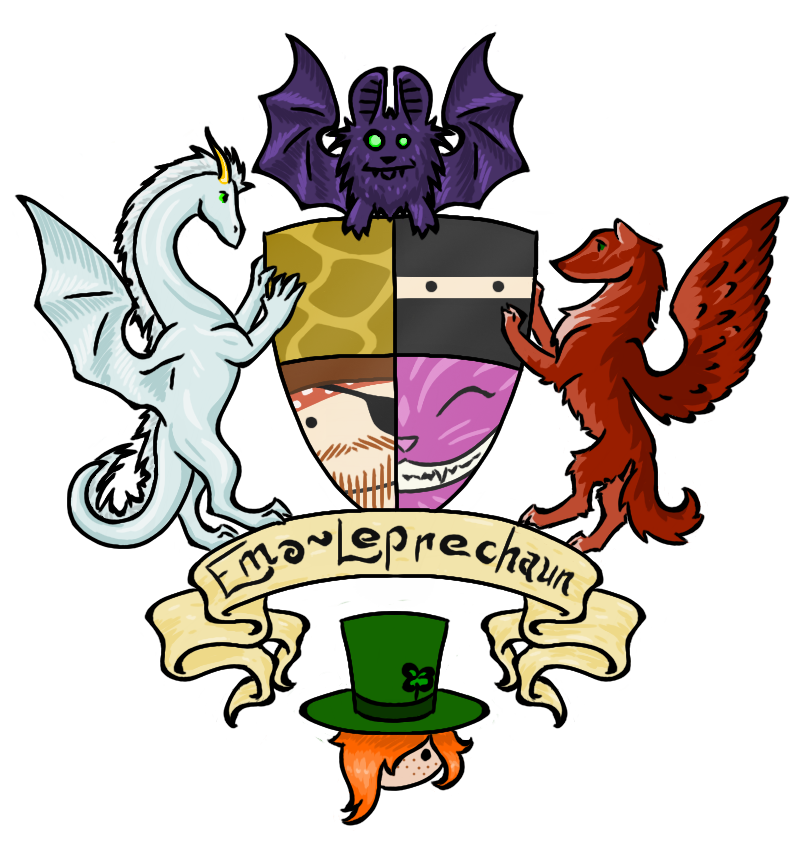 Leprechaun clipart coat. Emo of arms by