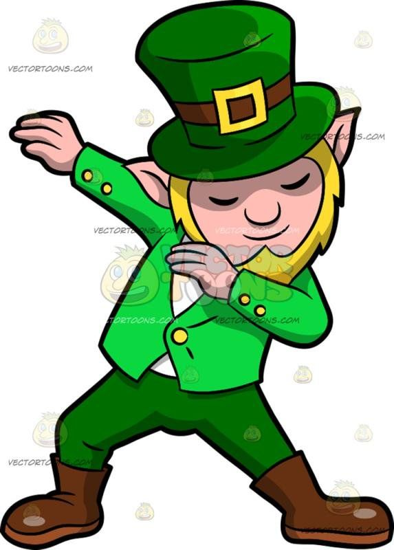 Dabbing a with blonde. Clipart pants leprechaun