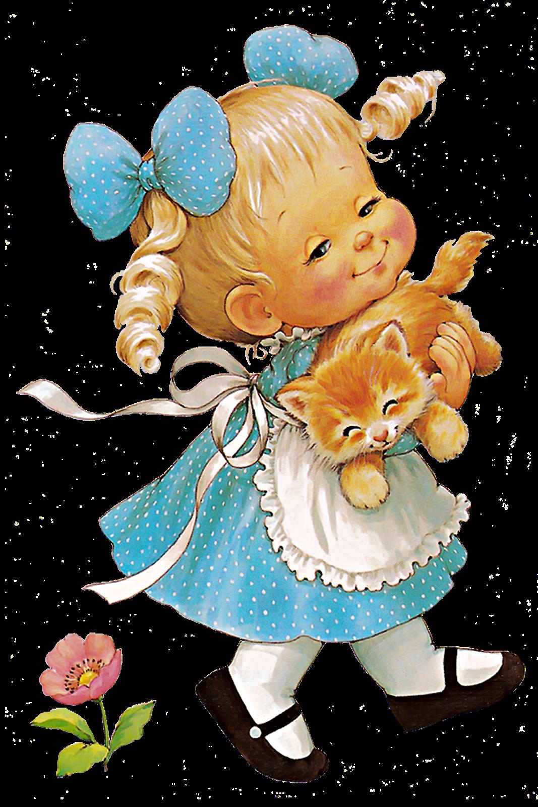 Vintage bear clip art. Shy clipart gurl