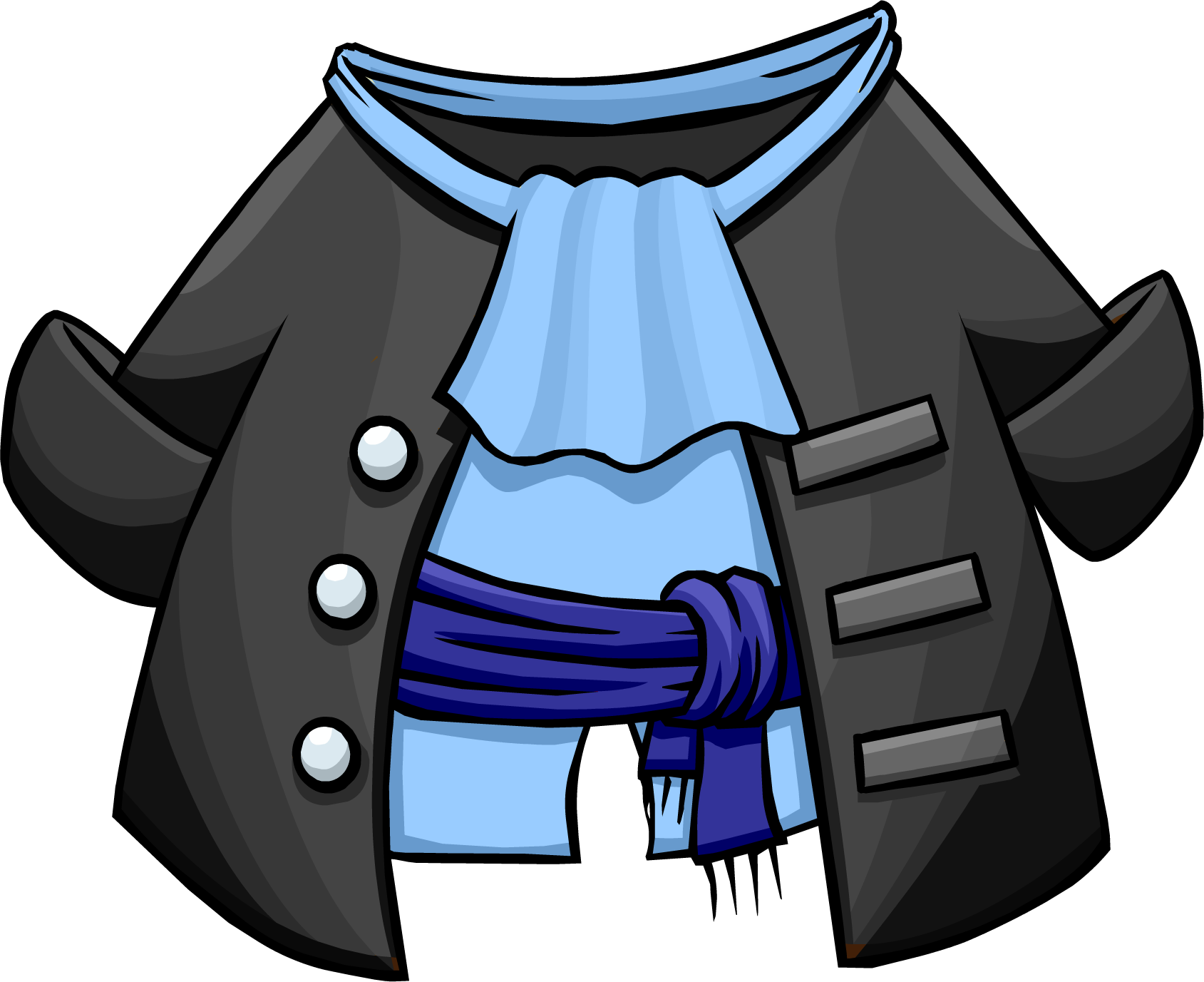 Gray pirate coat club. Pirates clipart character