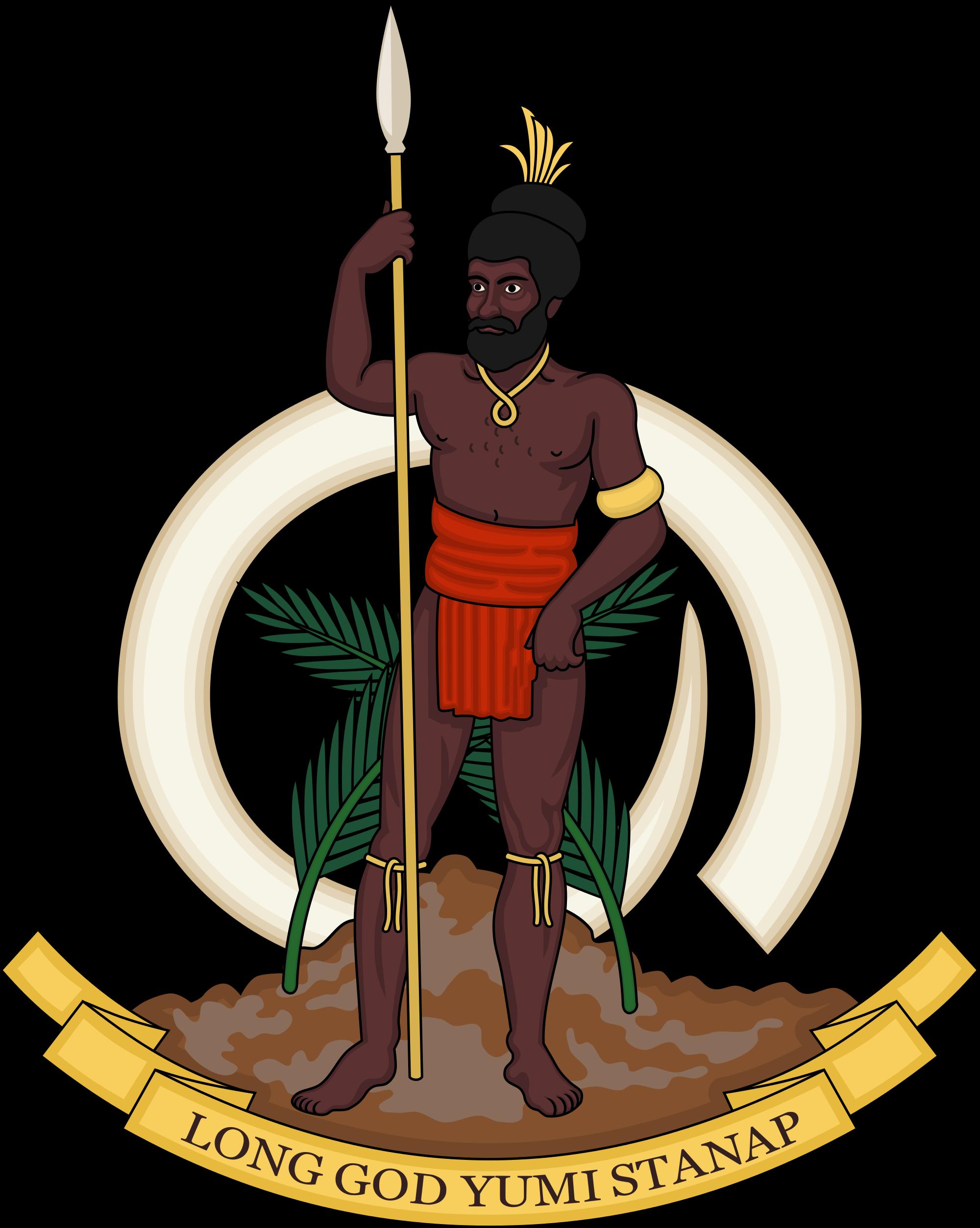 Warrior clipart polynesian. Coat of arms vanuatu