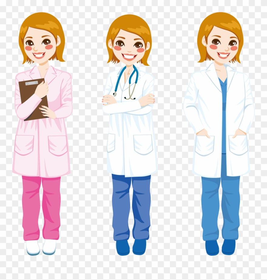 Doctors clipart white coat. Cartoon png download