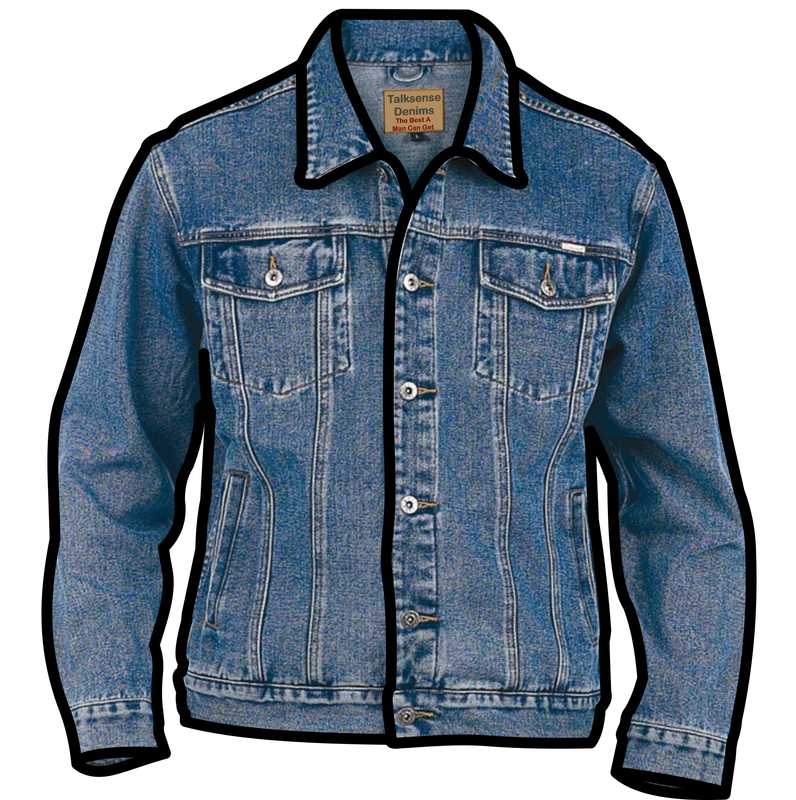 Symbol clothing talksense denim. Jacket clipart non