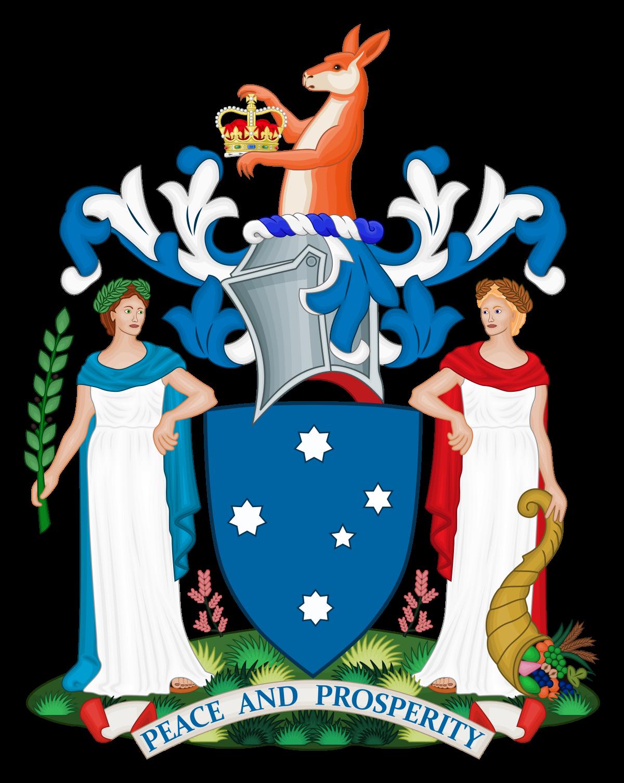 Whip clipart amendment. Coat of arms victoria