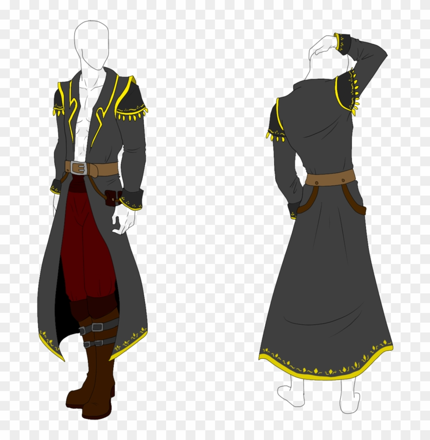 Pirates clipart coat. Drawing capes clothing reference