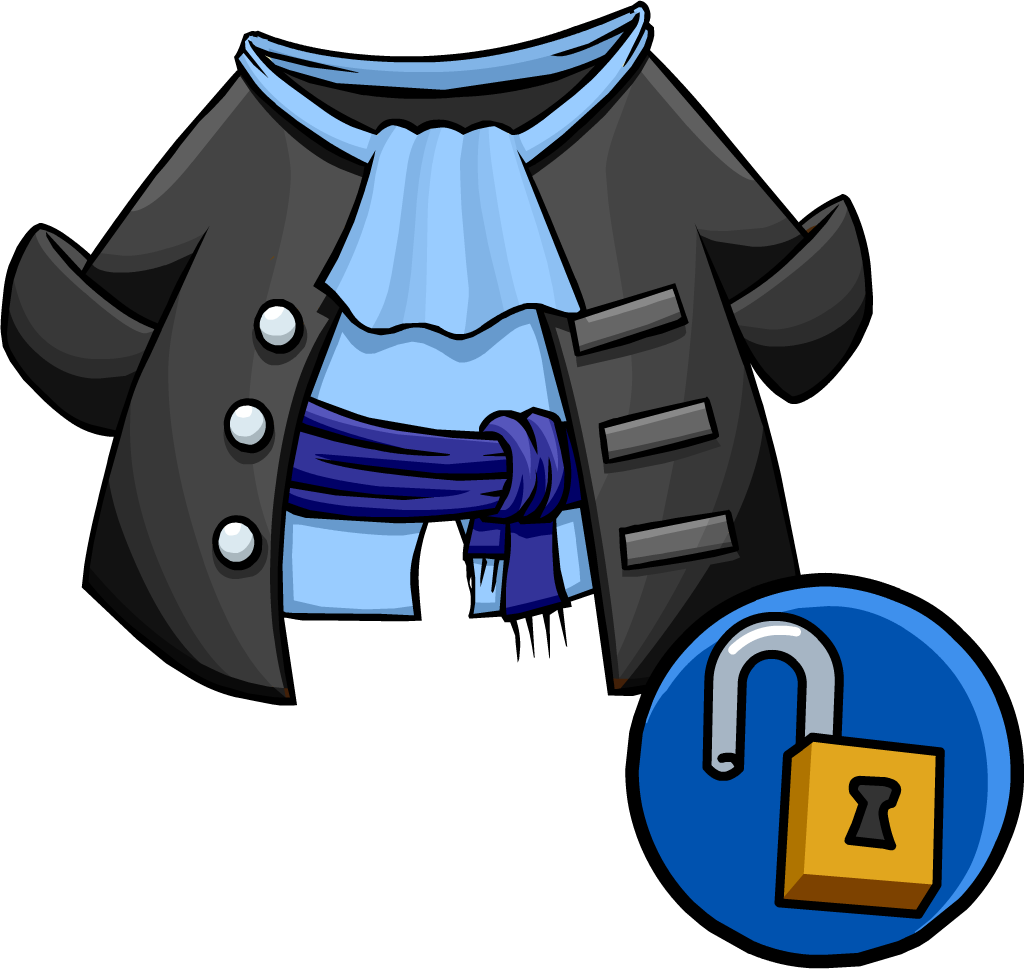 Image unlockable gray pirate. Pirates clipart coat