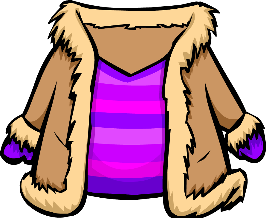Purple suede jacket club. Clipart winter item