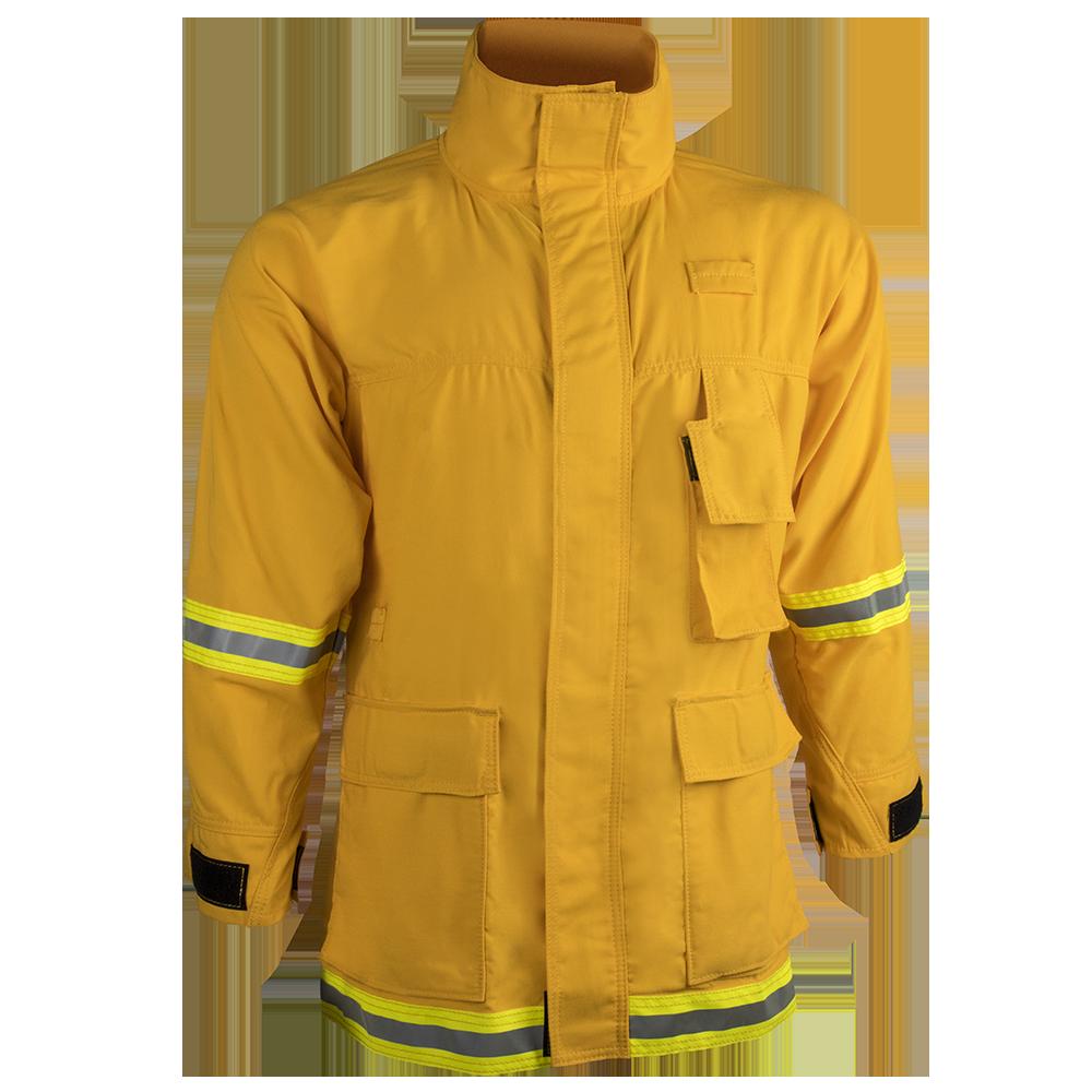 Firefighter clipart coat. Interface oz tecasafe yellow