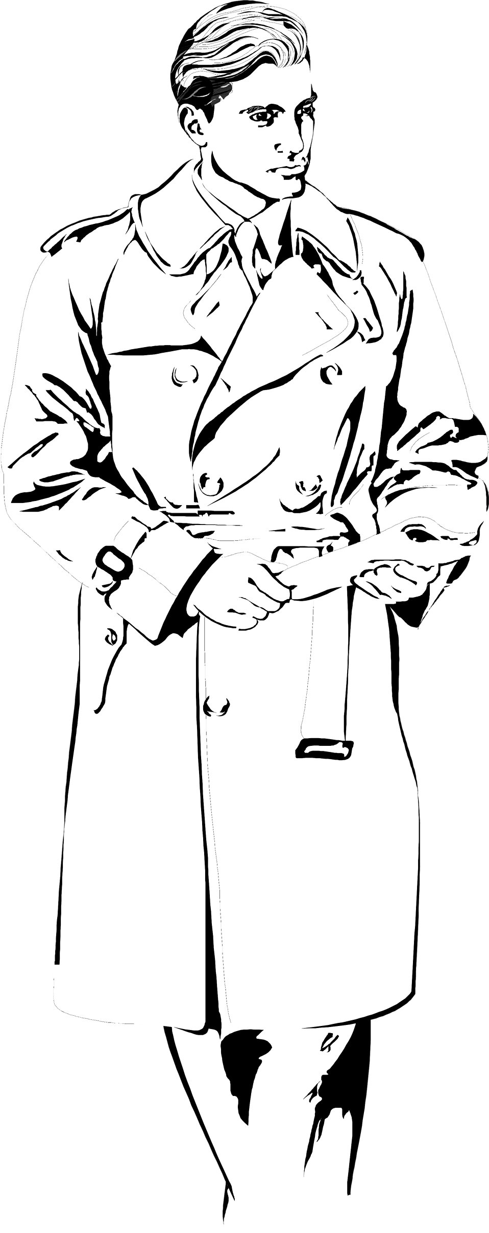 Clip art wallpapersskin illustration. Coat clipart rain poncho