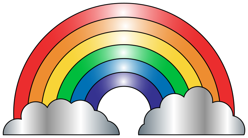 collection of images. Pathway clipart rainbow