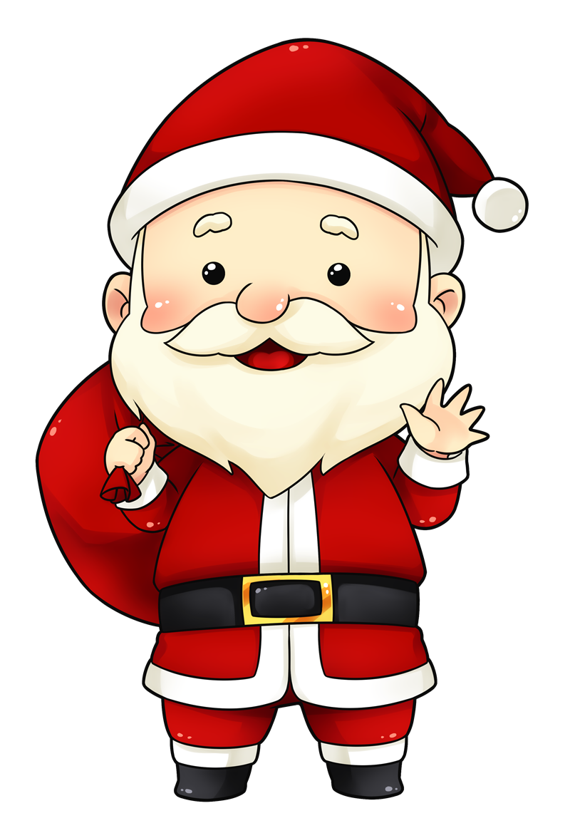 collection of cute. Hungry clipart santa