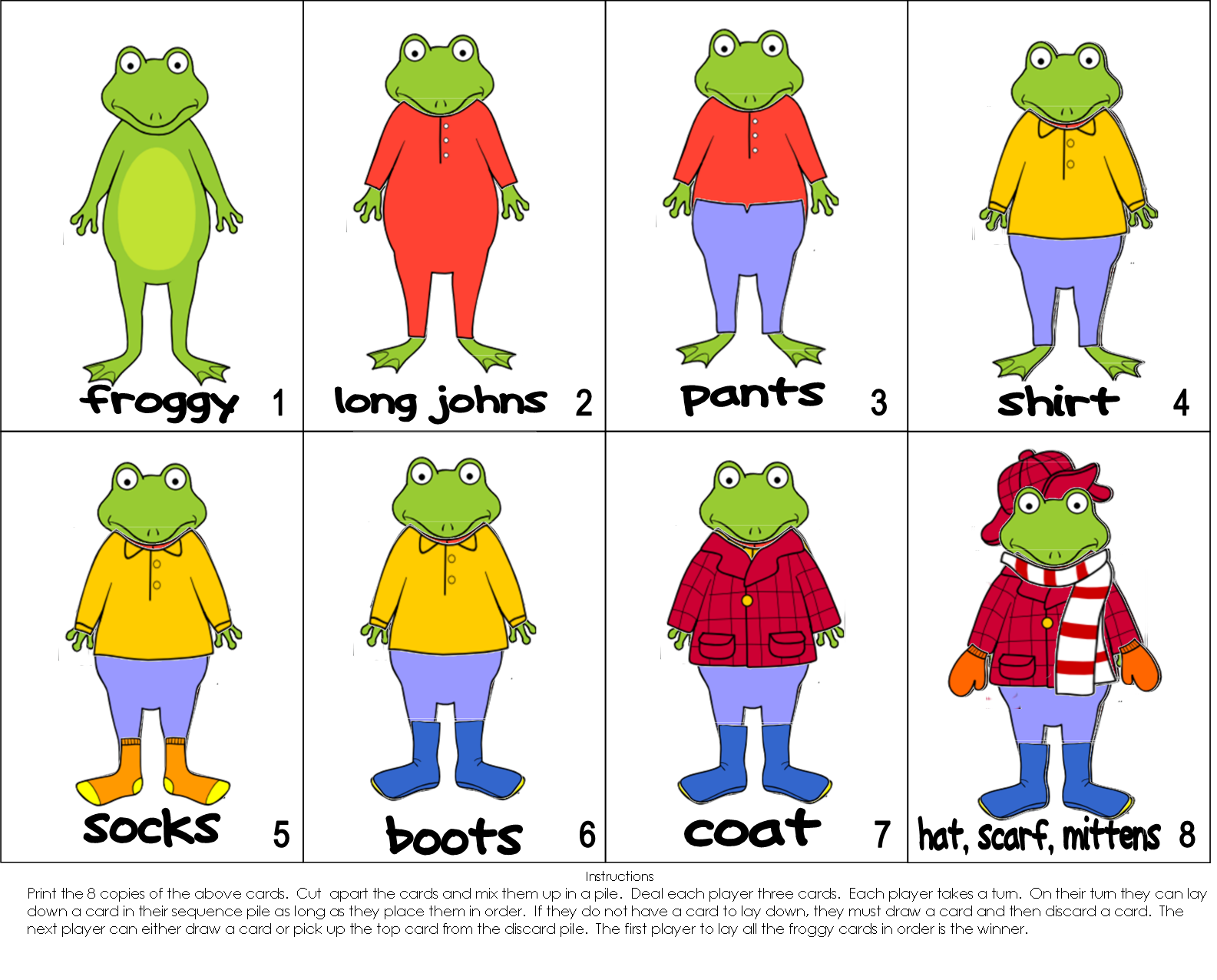 Froggy gets dressed activity. Mittens clipart coloring page