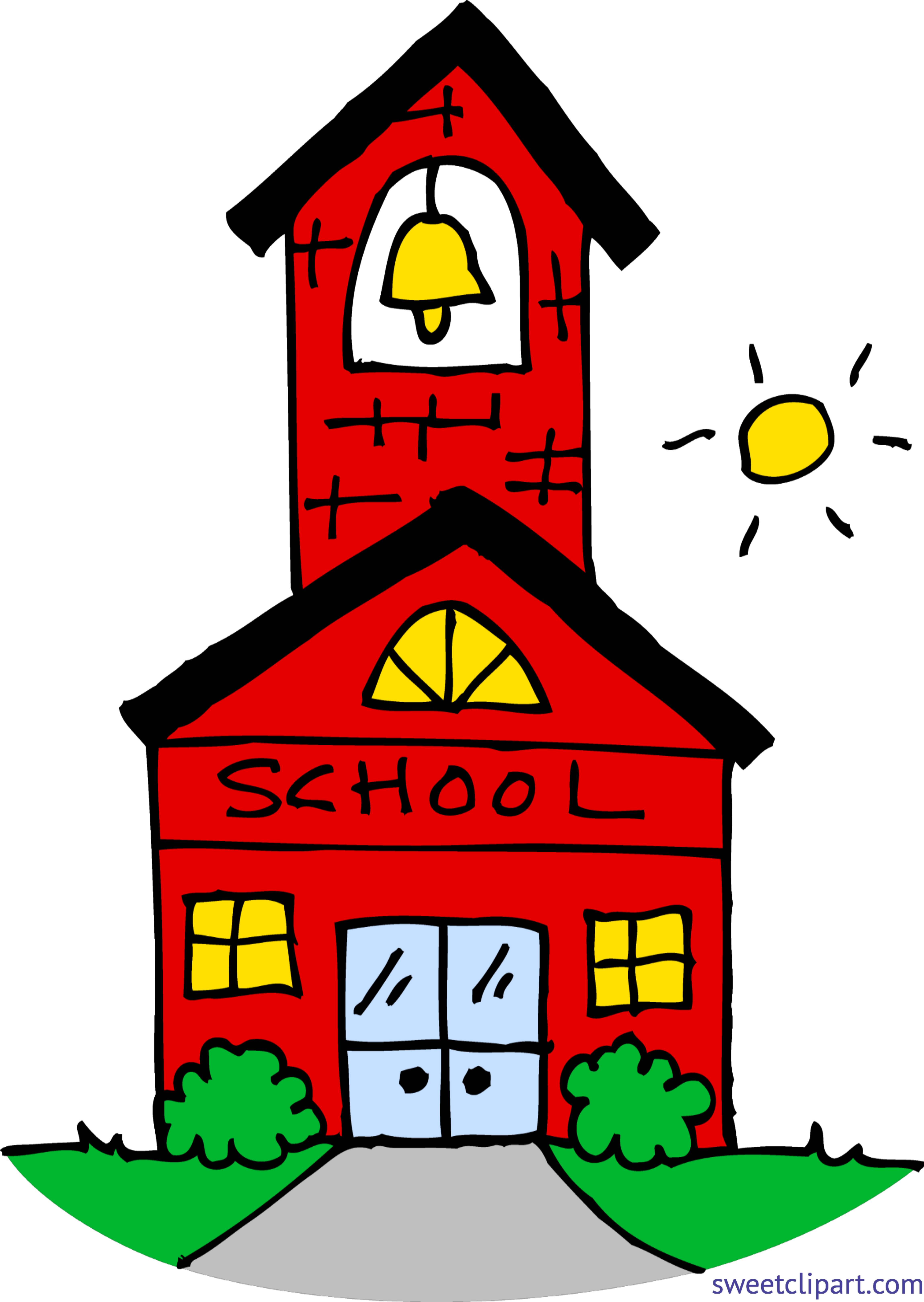 Little school house clip. Lunchbox clipart red