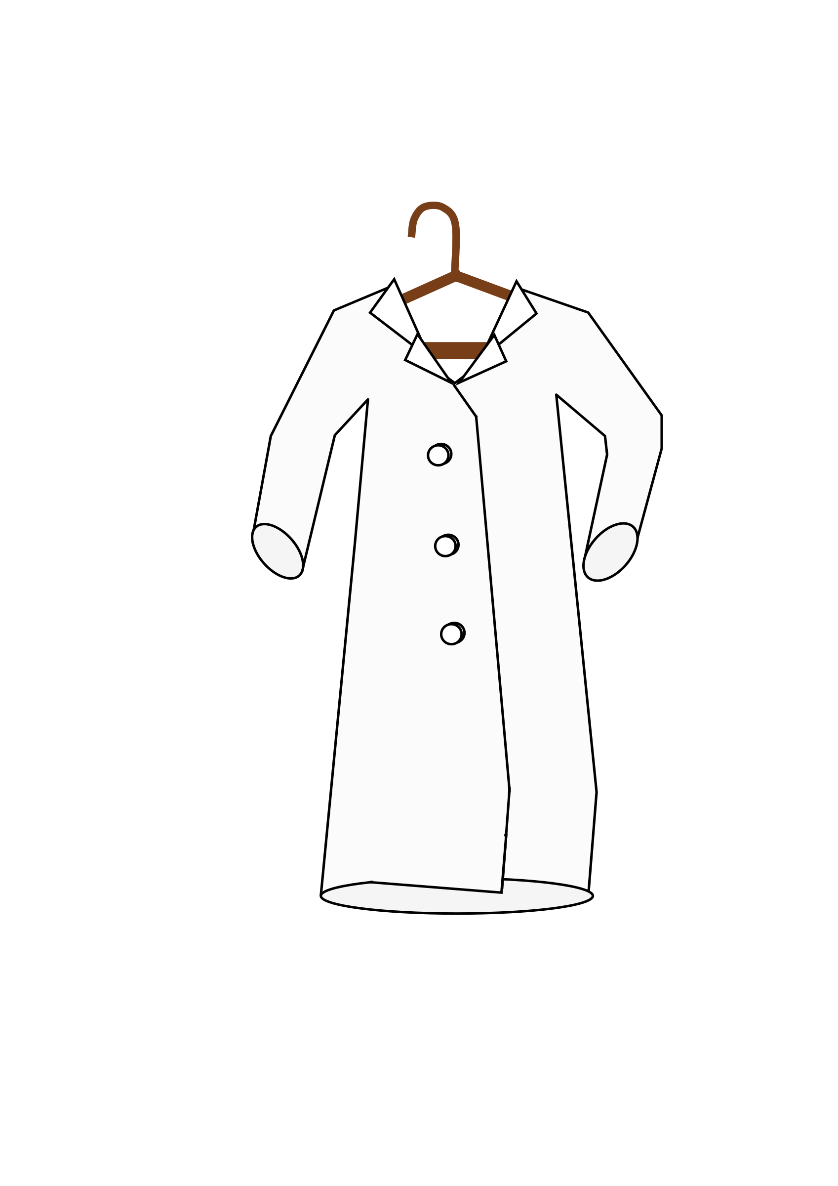 Jacket clipart chef coat. Lab on a hanger